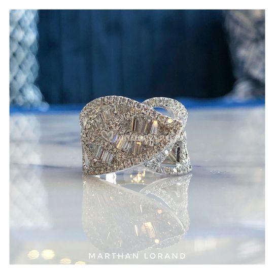 Bague Volute Diamants