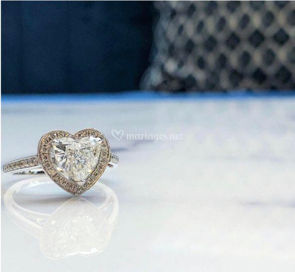 Diamant coeur de 1,45 ct GSI1