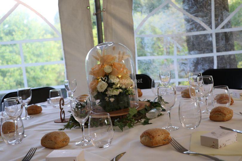 La table de réception