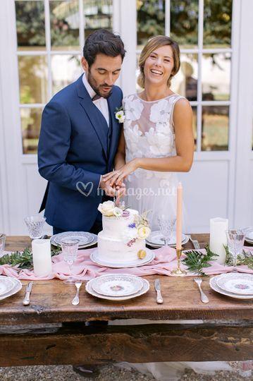 Découpage du gâteau