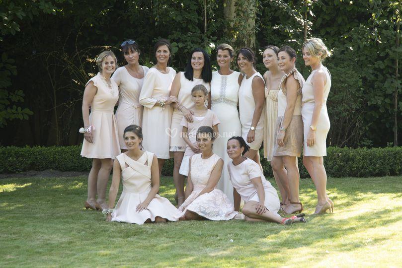 Mariée demoiselles d'honneur