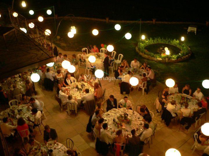 Terrasse de 200 couverts