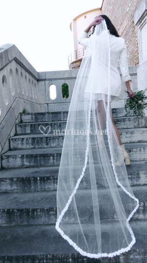 Voile de mariée 220 cm Tulle