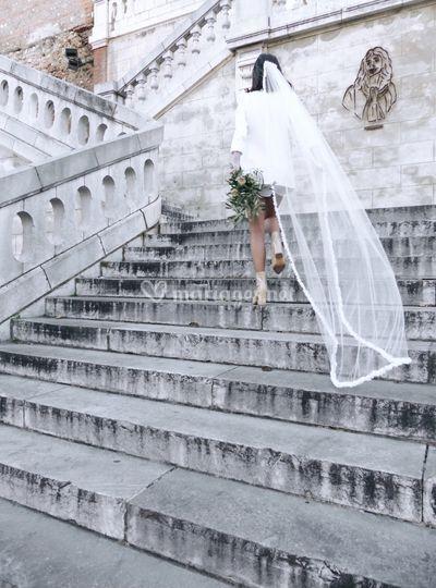 Voile de mariée bordure satin