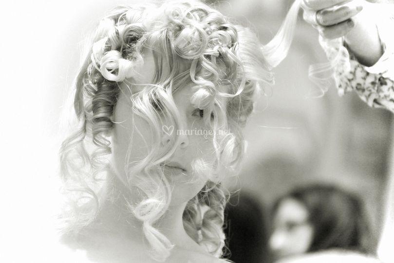 Préparatifs : la coiffure