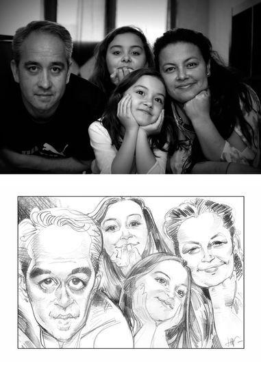 Une famille d'après photo