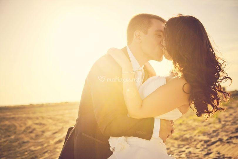 Photo de couple à la plage