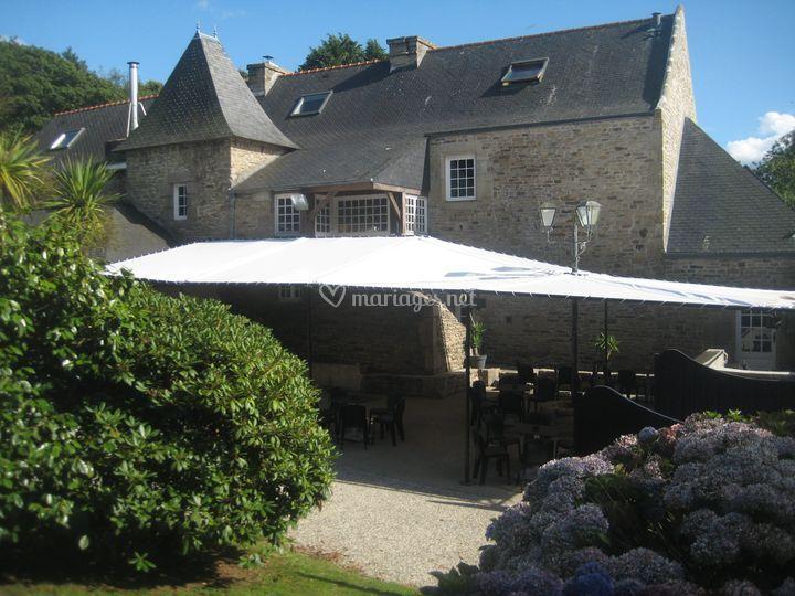 Terrasse cocktail sur Manoir du Curru