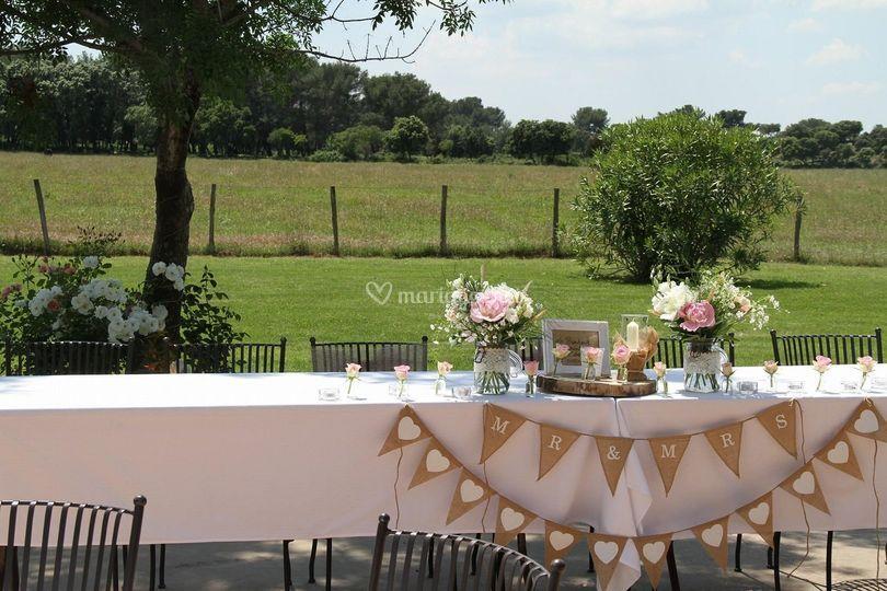 Table d'honneur mariés