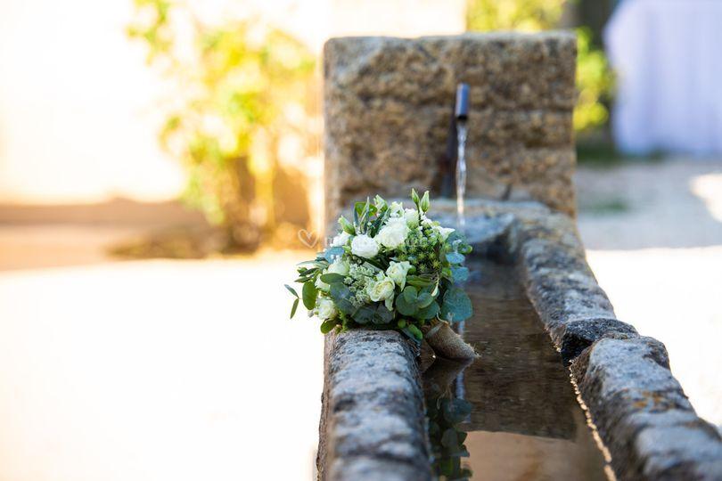 Fontaine sur la terrasse