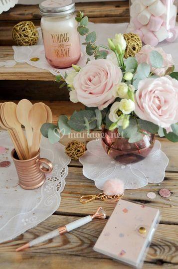 Rose gold Et blanc