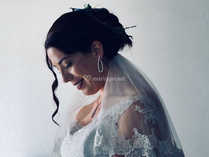 La mariée se prépare..