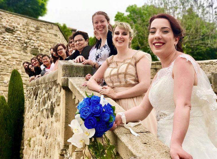 La mariée ces amis et la famil