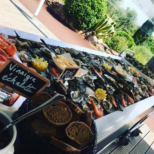 Buffet crustacés