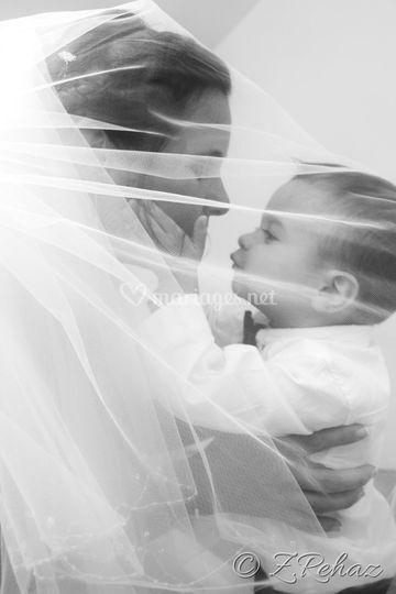 La mariée et son enfant