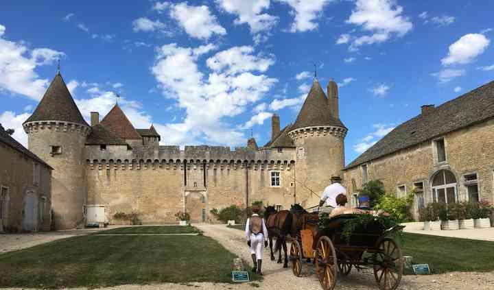 Arrivée en calèche au Château