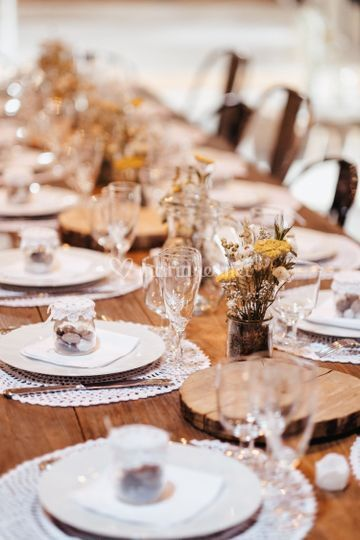 Table mariage, A. Baudet Photo