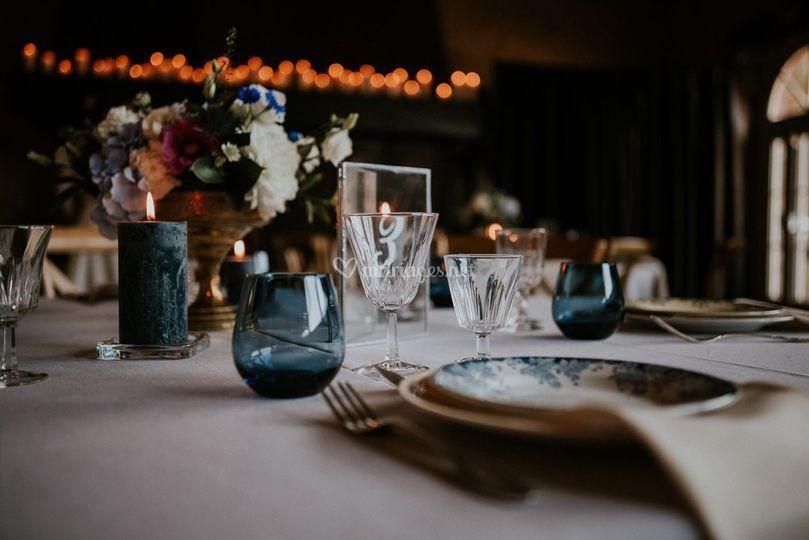 Table décoration vintage