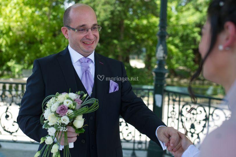 Le marié découvre la mariée