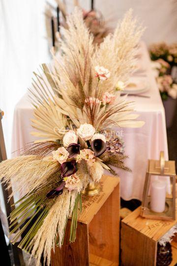 Decoration de table bohême
