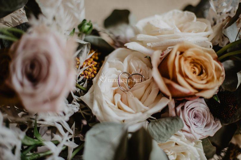 Bouquet de mariée bohême