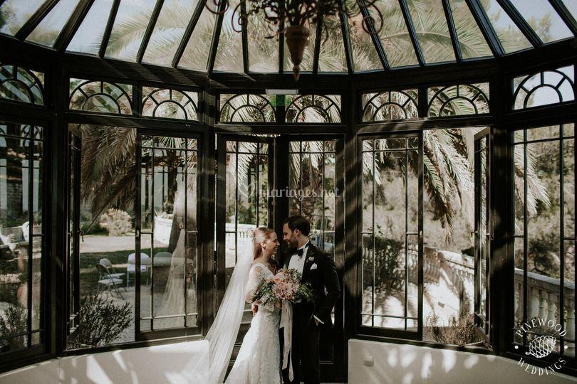 Photo mariage veranda