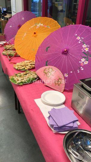 Repas theme Asie 100 personne