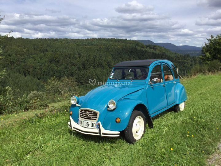 Notre 2CV bleue...