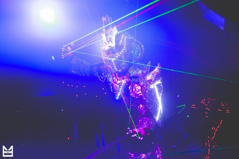 Robot à LED