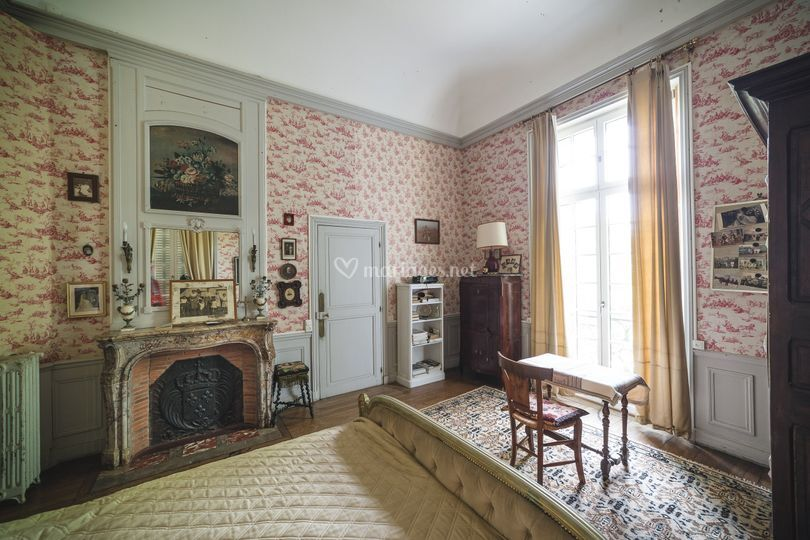 Château : chambre rose