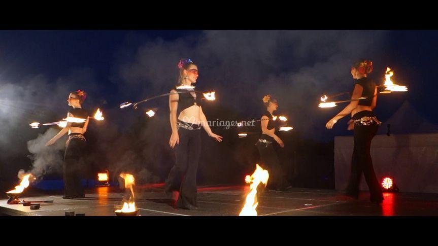 Spectacle de feu - Hula hoop