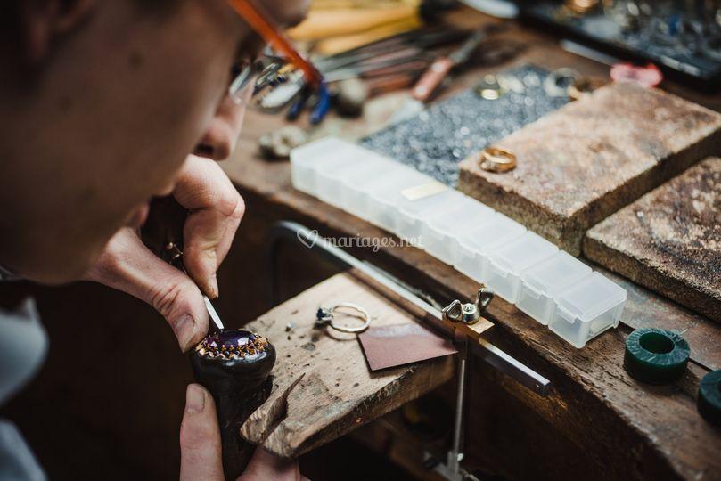 Serti diamant atelier