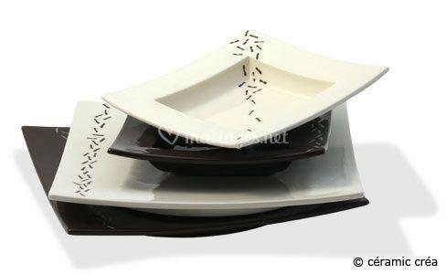 Assiettes carrées Zen