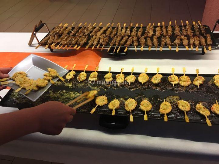 Brochette yakitori