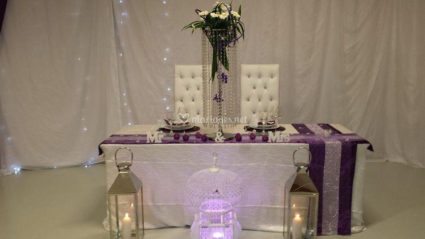 Table des mariés