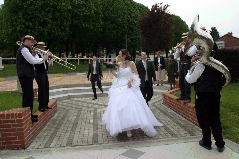 Accueil des  mariés