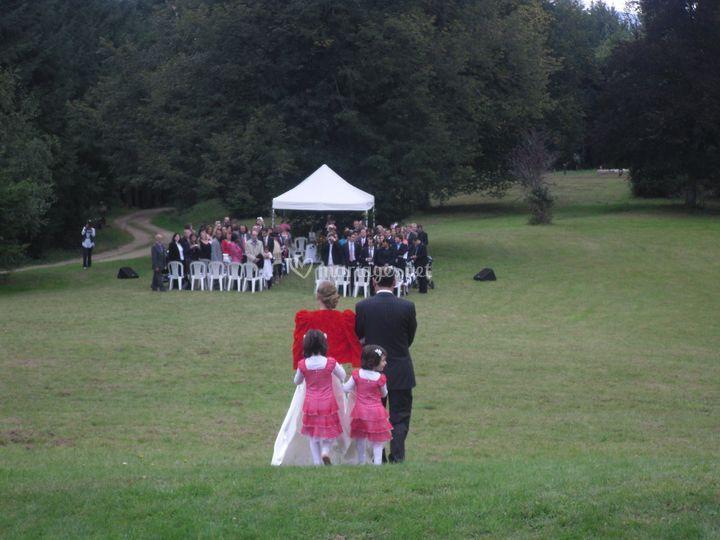 Mariage civil dans le parc