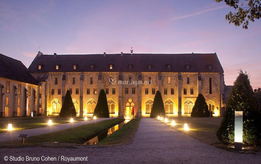 de nuit sur abbaye royaumont - Chateau Mariage Val D Oise