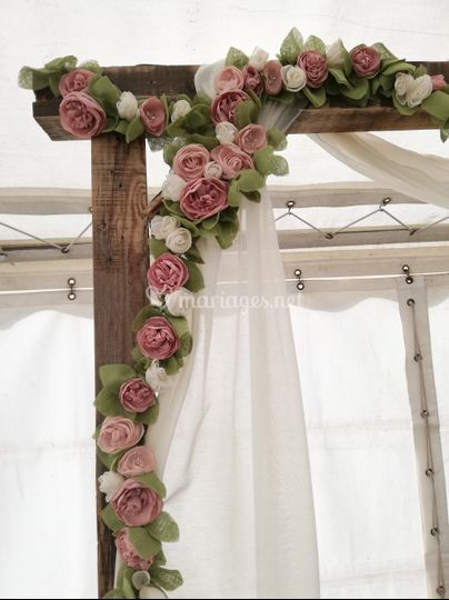 Décoration florale de l'arche