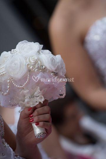 Bouquet de fleurs en tissu