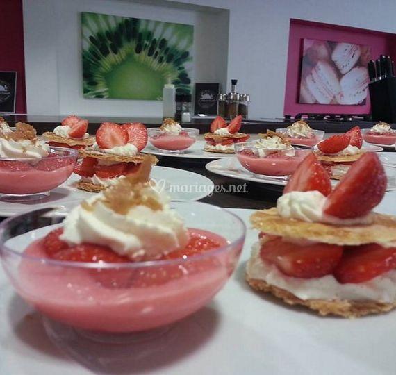 Préparation des desserts