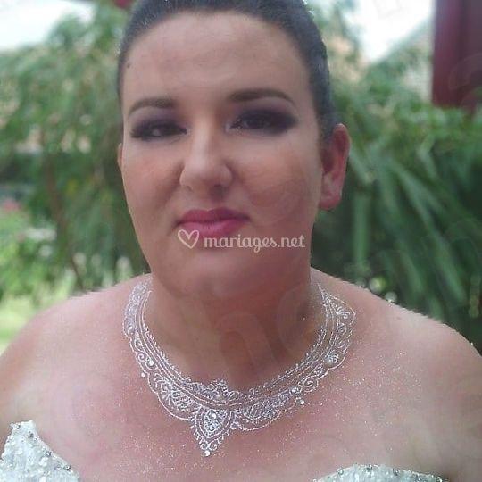Maquillage oriental de mariée