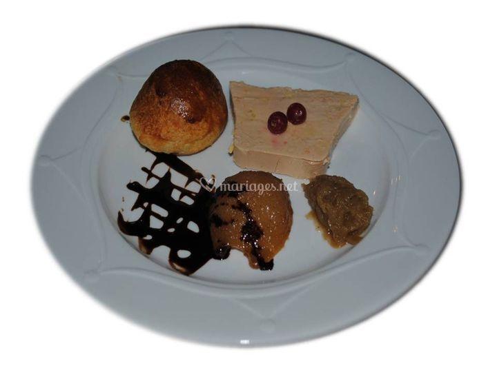Foie gras et sa briochine mais