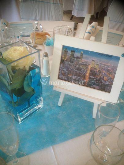 Déco table bleue