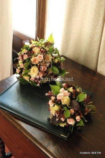Bouquets de mariée et demoiselle d'honneur