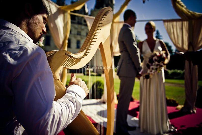Harpe mariage