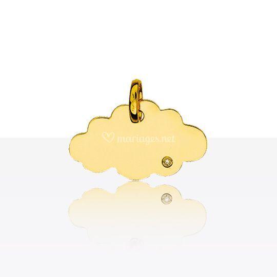 Médaille laïque nuage or