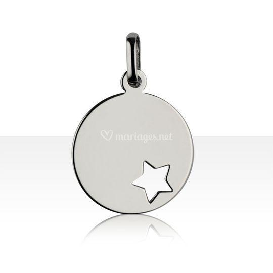 Médaille étoile or 375