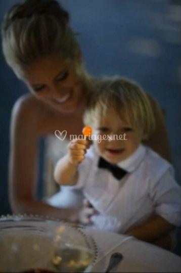 Mariée avec enfant