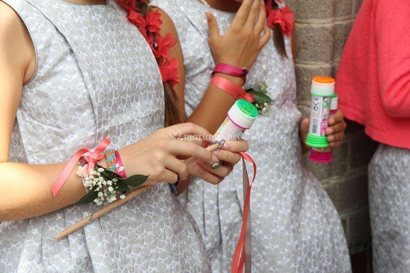 Bracelet floral et baguettes